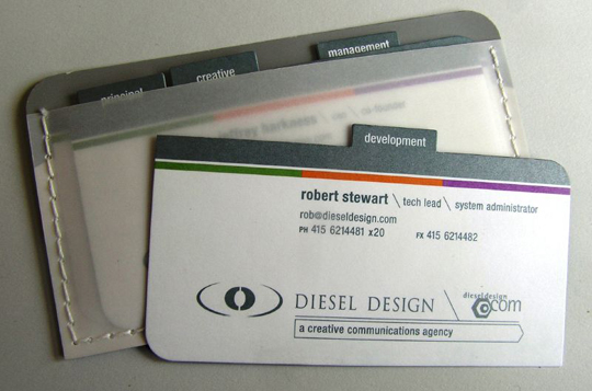 Diesel Design's Portfolio Business Card