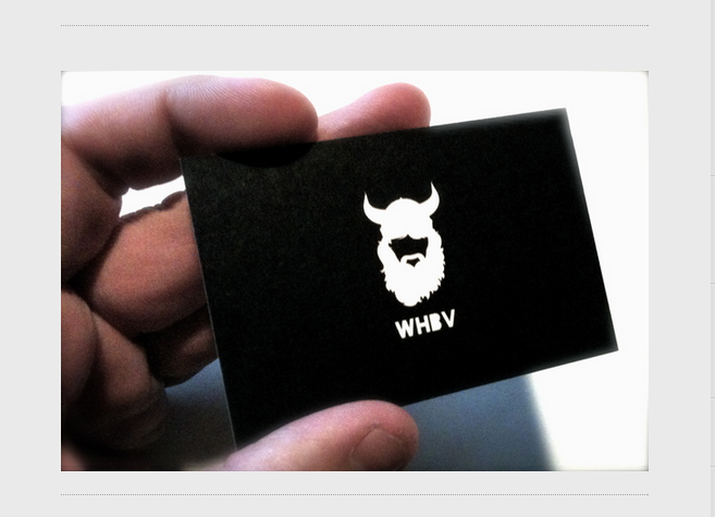 WHBV Business Cards