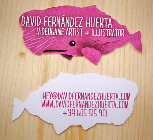 Creative and Unusual Die-cut Business Card Designs