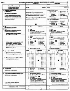 1990 US Census Form